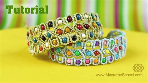 Macrame School - beaded bracelet tutorial macrame school