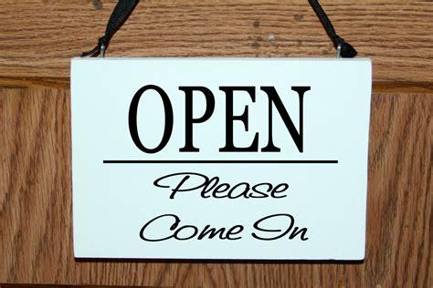 Business Door Signs 2 sided open closed door hanging sign business