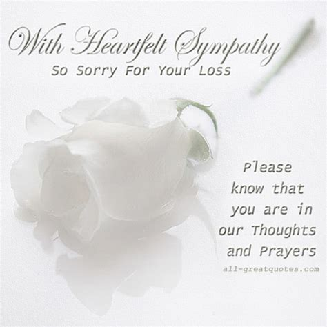 Sorry For Your Loss Cards Free
