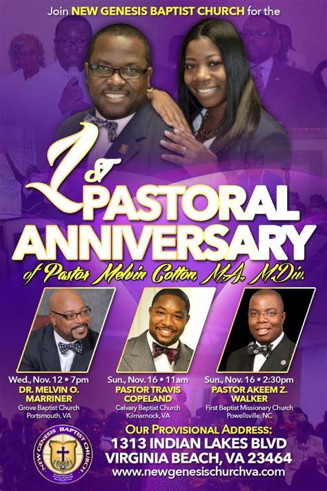 St Pastoral Anniversary New Genesis Baptist Churchnew