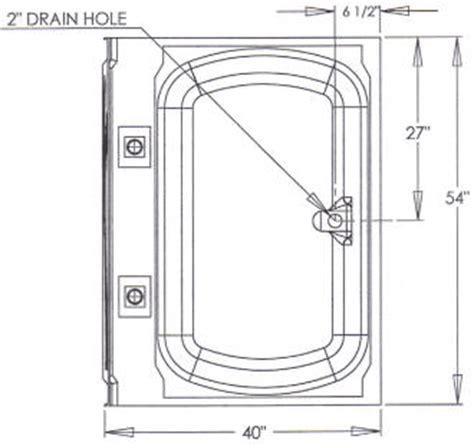 Garden Tub Dimensions R G Mobile Home Supply 40 X 54 No Step Garden Tubs