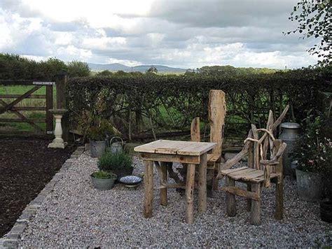 driftwood garden bench