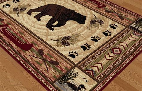 cabin rugs clearance tayse nature southwestern lodge area rug collection rugpal 6550 5200