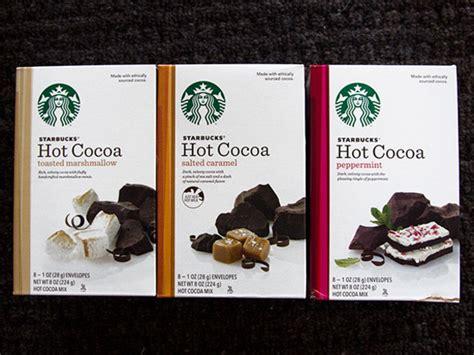 hot cocoa mixes  starbucks  eats