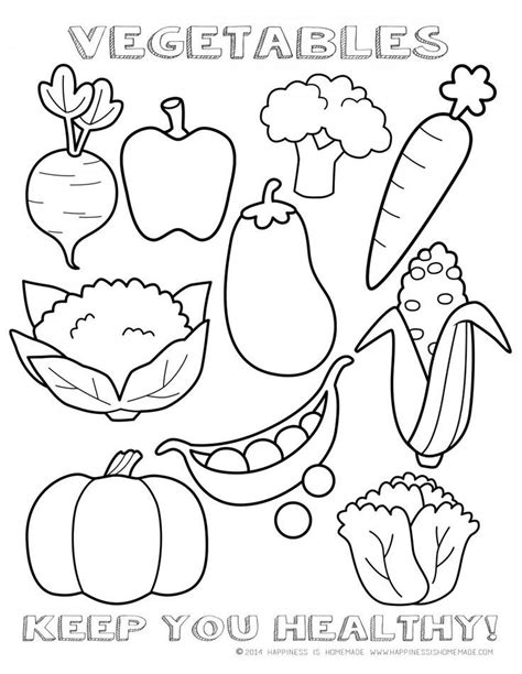 preschool coloring pages of vegetables healthy vegetables coloring page sheet food for early