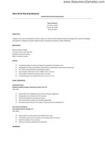 Nursing Resume Exles New Grad by New Graduate Resume Sle Writing Resume Sle
