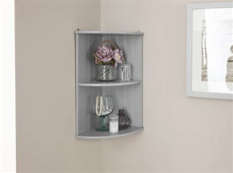 Colonial Bathroom Furniture Grey Corner Wall Shelf Unit One Stop Furniture Shop