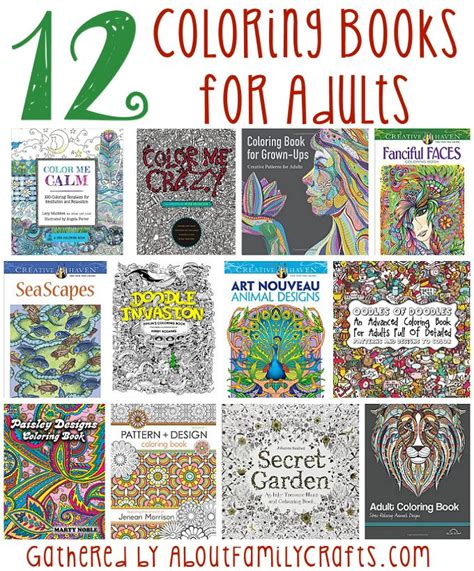book for adults 12 coloring books for adults about family crafts