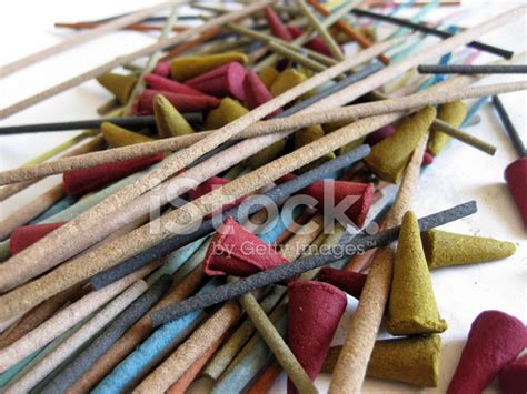 Incense Cone Assorted assorted incense sticks and cones up stock photos