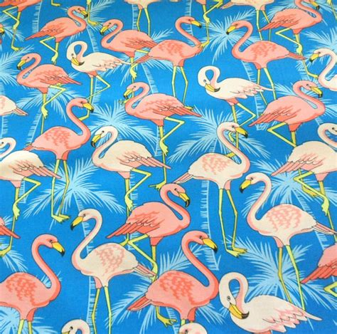 Flamingo Quilt Fabric by Pink Flamingo Fabric Cotton Material Flamingo Fabric Cotton