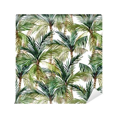 tree pattern png watercolor palm tree seamless pattern wallpaper pixers
