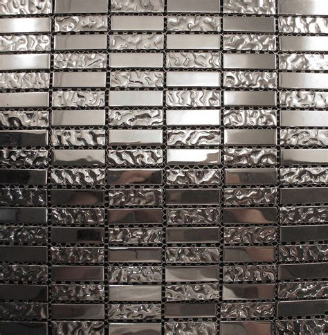 sle silver metallic glass blend mosaic tile for