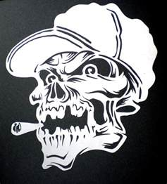 skull templates for airbrushing high detail airbrush stencil spliff skull free uk postage