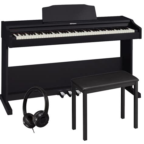 Roland Rp 102 Digital Home Piano roland rp 102 home style digital piano black 88 key weighted with 4 legged bench and headphones