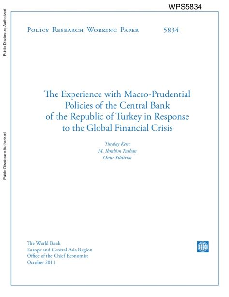 policy research working paper policy research working paper the experience with macro