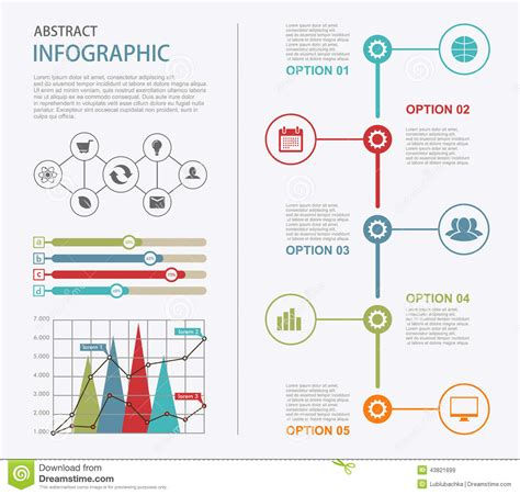 Infographic Design Templates Presentation Abstract Page Stock Vector Image 43821699 Infographic Indesign Template