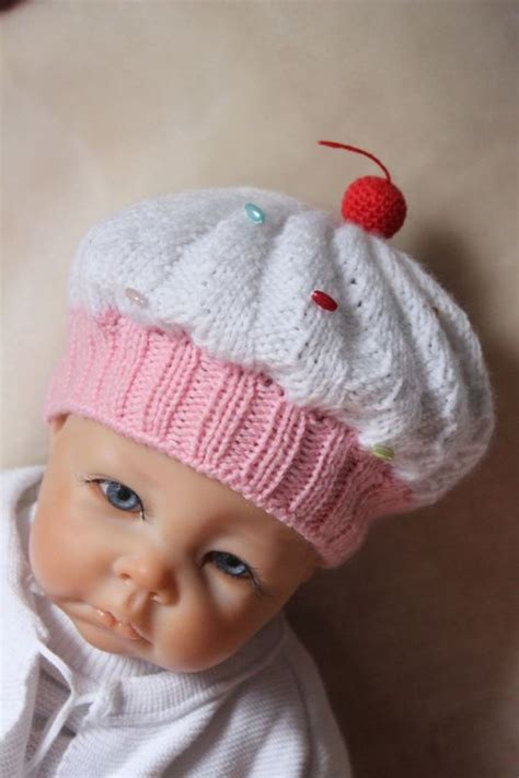 cupcake knitted hat pattern free cupcake baby hat knitting pattern