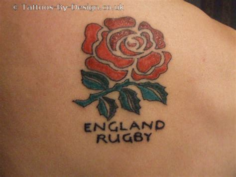 england rugby rose tattoo