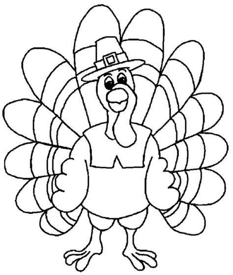 Turkey Coloring Pages For Turkey Coloring Page Coloring Town