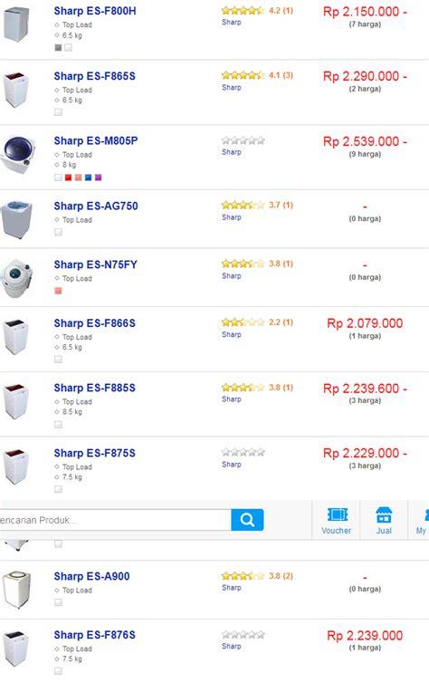 Daftar Mesin Cuci 1 Tabung mesin cuci sharp 1 tabung terlengkap dan termurah oktober
