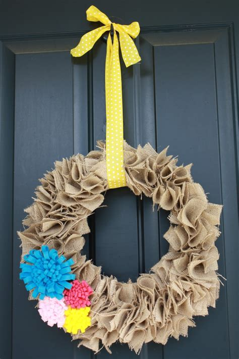 spring wreaths to make how to make a burlap wreath 30 diy tutorials guide patterns