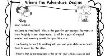 preschool welcome letter to parents from template learning and teaching with preschoolers welcome parents