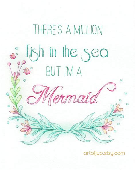 mermaid printable wall art mermaid art quote art print quote inspirational quote