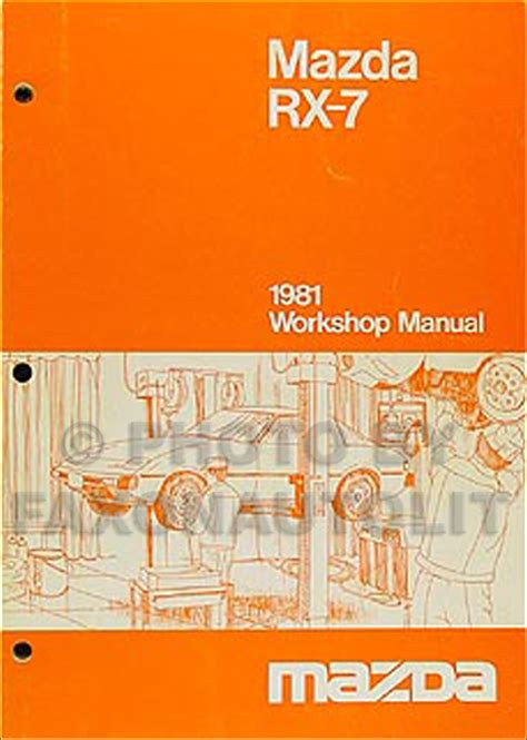 1984 mazda rx 7 repair shop manual original 1981 mazda rx 7 repair shop manual original