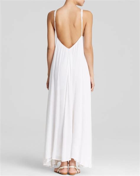 Whiens Dress Anak 03 lyst mara hoffman embroidered gauze maxi dress in white