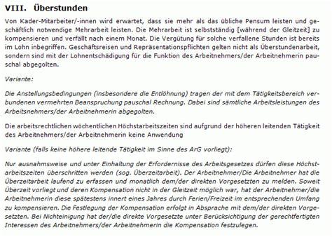 Muster Lebenslauf Kader Schweiz Arbeitsvertrag Kader Muster Zum