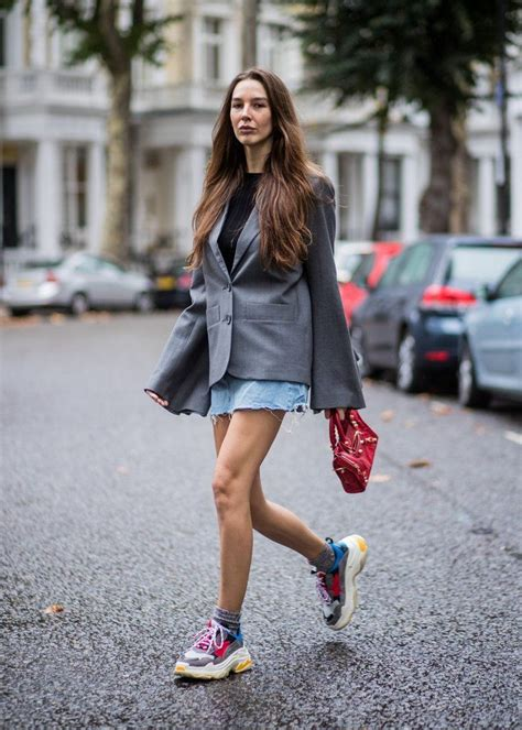 celebrity style trainers what to try dad sneakers street style snaps pinterest