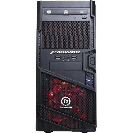 cyberpowerpc black/red gamer ultra gua520 desktop pc with