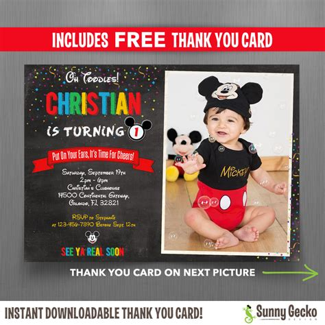 diy mickey mouse invitations template best template collection
