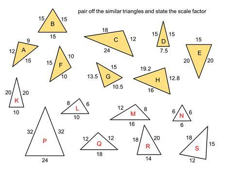 Similar Triangles Worksheet Pdf by Similar Triangles Worksheet Pdf Photos Getadating