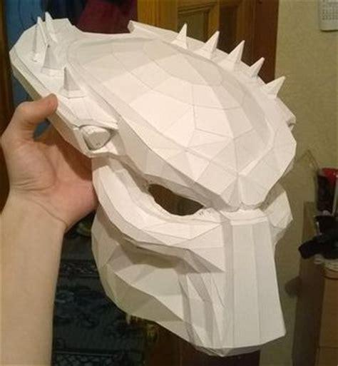 Predator Papercraft - size predator mask papercraft ver 3 free template