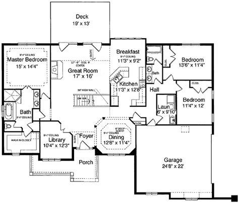house plans with finished basement one level design plus finished basement 3930st 1st floor master suite den office library