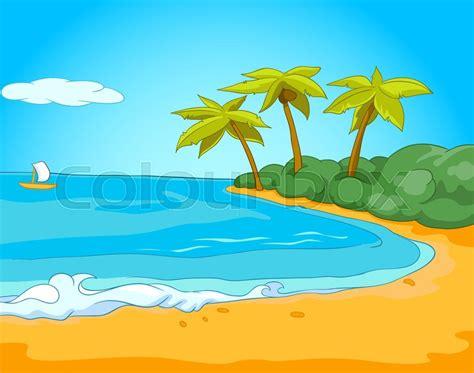 Poster Daun Suplir of summer sea landscape background of