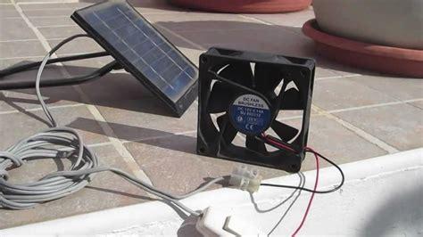 how to a solar fan solar panel fan for ventilation