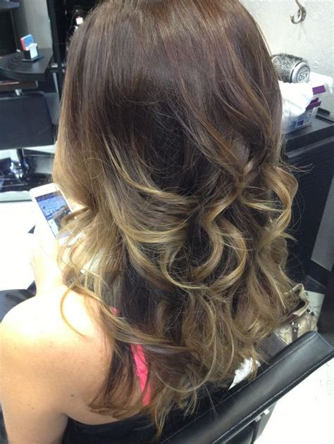 Medium Brown With Blonde Ombre | medium brown to blonde ombre hair by ambre rose