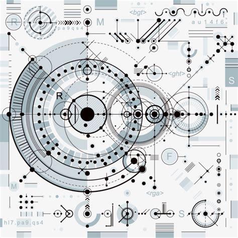 pattern allowances mechanical engineering exquisite design engineering mechanical drawings vector