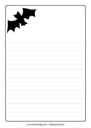 bat writing paper writing frames