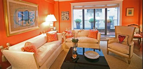 Orange Living Room Accessories by Bright Living Room Energetic Orange Home Decor 2618