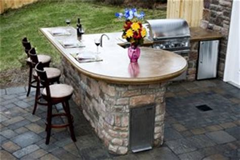 Prefab Concrete Countertops by Prefab Outdoor Kitchen Kits Landscaping Network