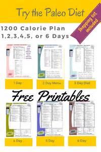 Different printable 1200 calorie paleo diet menu for 1 2 3 4 5