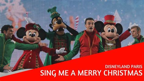 sing   merry christmas christmas  disneyland paris youtube