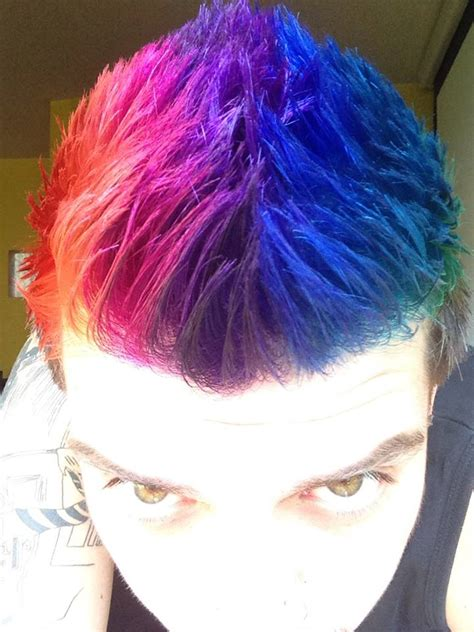 Awesome Dyed Hairstyles For Guys by Rainbow Hair Finally A Pic Of A Rainbow Hair On A