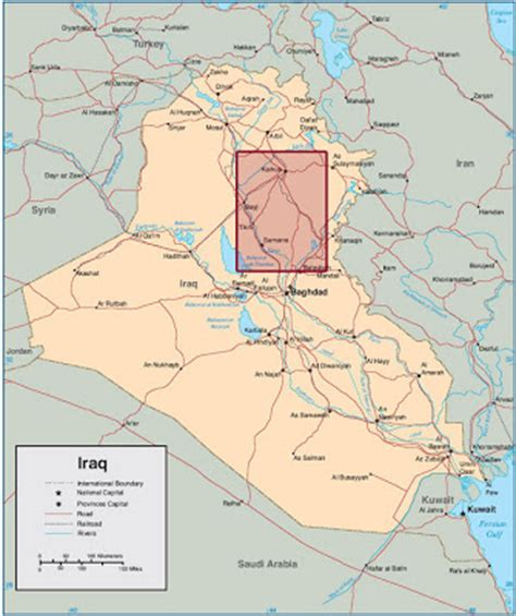the missing man: military bases in north east iraq
