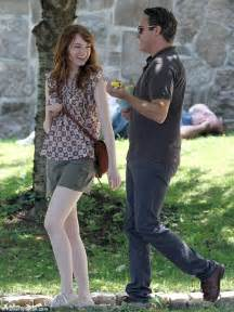 emma stone joaquin phoenix emma stone spotted with joaquin phoenix on set of woody