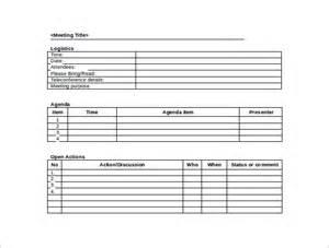 42 Free Sle Meeting Minutes Templates Sle Templates Free Meeting Minutes Template Word