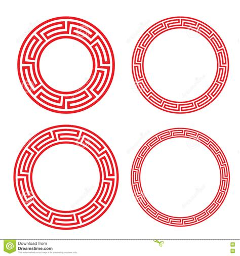 chinese pattern frame vector free classic chinese red circle window and photo frame stock